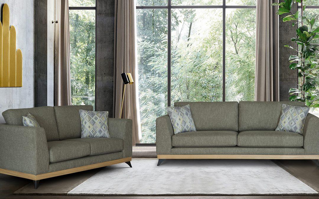 Iris Wood Modern Sofa